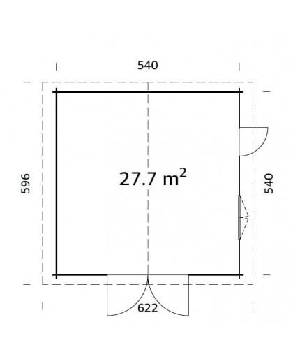 """Garage """"Roger"""" 27,7 m²"""