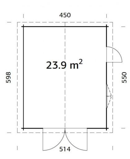 """Garage """"Roger"""" 23,9 m²"""