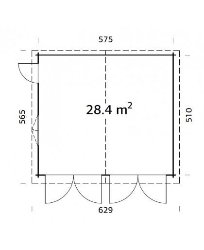 """Garage """"Roger"""" 28,4 m²"""