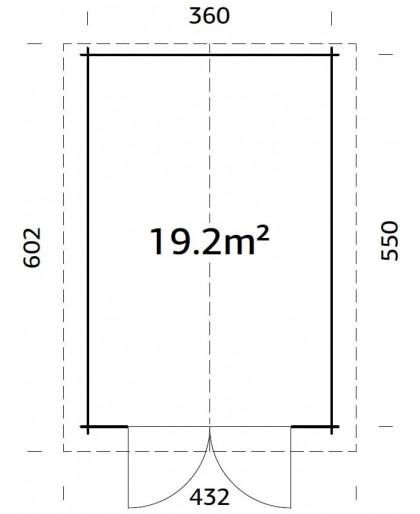 """Garage """"Tomas"""" 19,2 m²"""