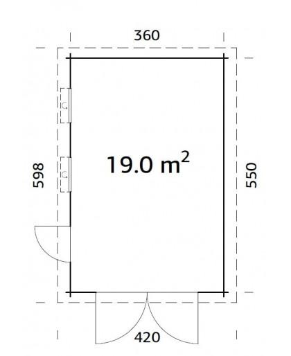 """Garage """"Rasmus"""" 19,0 m²"""