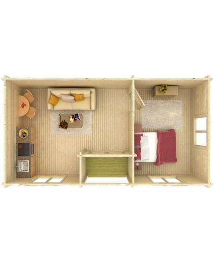"Chalet de loisirs ""Anna"" 26,8+1,9 m²"