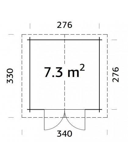 """Abri de jardin """"Lotta"""" 7,3 m²"""