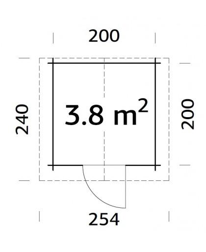 """Abri de Jardin """"Vivian"""" 3,8 m²"""