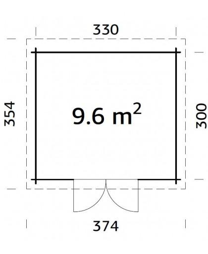 """Abri de Jardin """"Elsa"""" 9,6 m²"""