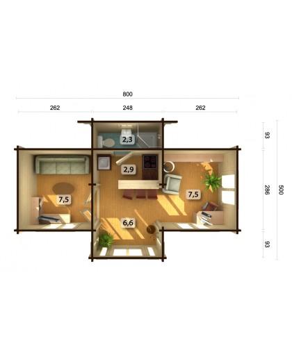 "Chalet de Loisirs ""Anna"" 26,8 m²"