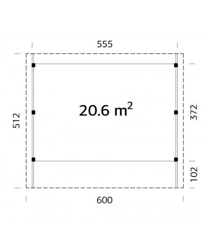 "Carport ""Karl"" 20,6m²"