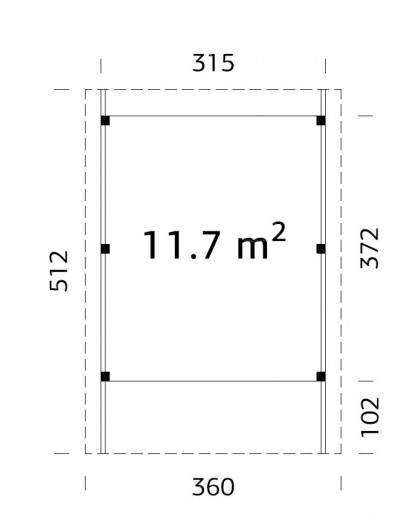 "Carport ""Karl"" 11.7m²"