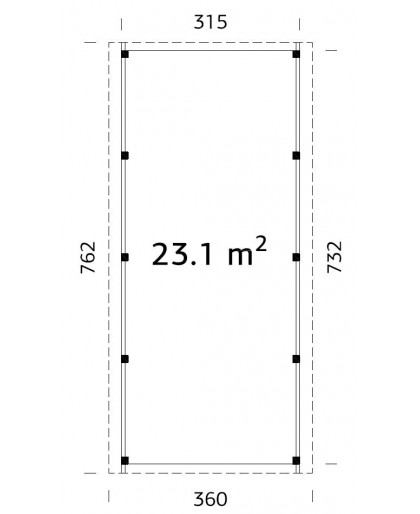 "Carport ""Karl"" 23,1m²"