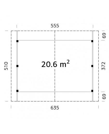 "Carport ""Robert"" 20,6m²"