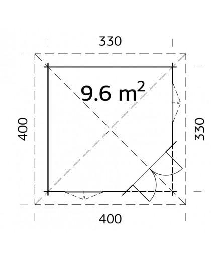 """Kiosque """"Mélanie"""" 9,6 m²"""