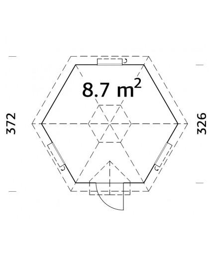 "Kiosque ""Eva"" 8,7 m²"