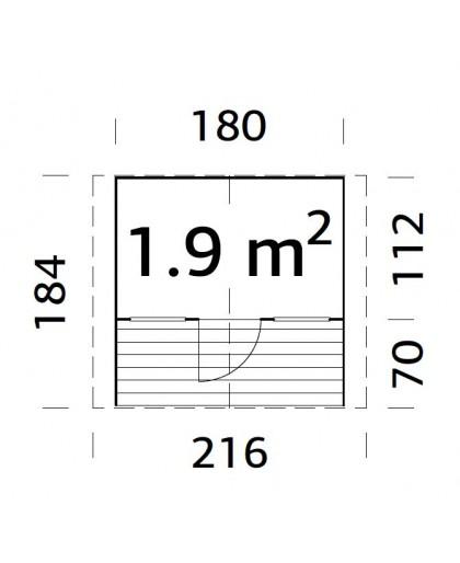 """Maisonnette pour enfant """"Felix"""" 1,9 m²"""