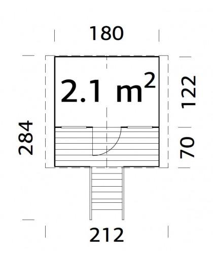 """Maisonnette pour enfant """"Toby"""" 2,1 m²"""