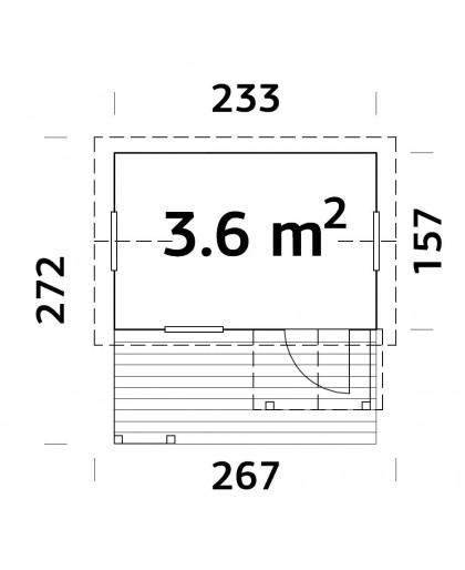 """Maisonnette pour enfant """"Otto"""" 3,6 m²"""