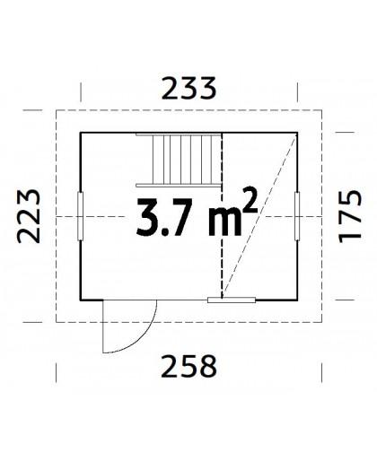 """Maisonnette pour enfant """"Grete"""" 3,7 m²"""