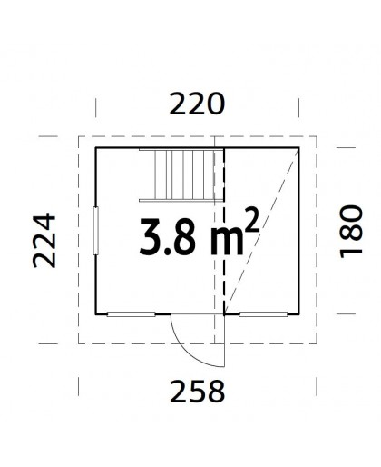 """Maisonnette pour enfant """"Tom"""" 3,8 m²"""