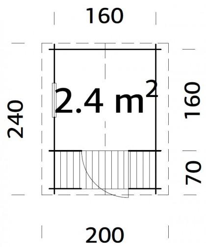 """Maisonnette pour enfant """"Sam"""" 2,4 m²"""