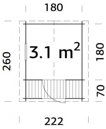 """Maisonnette pour enfant """"Stina"""" 3,1 m²"""