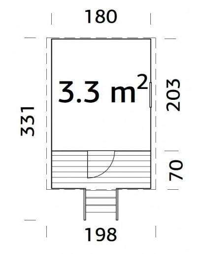 """Maisonnette pour enfant """"Huck""""3,3 m²"""